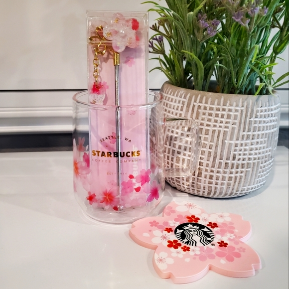 3 piece Starbucks Sakura Glass Set